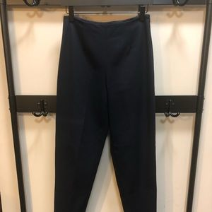 Talbots High Waisted Navy Tapered Trousers